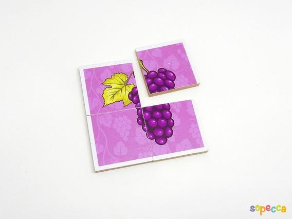 Quebra-cabeça Frutas 24 Peças - Sopecca Qb202