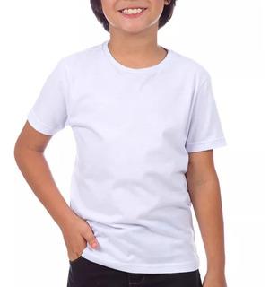 10 Camisas Camisetas Blusas Infantil 100% Poliestr Branc