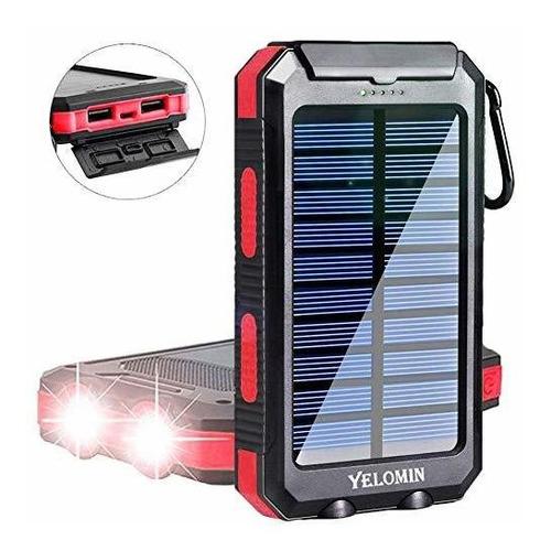 Solar Phone Charger,yelomin 20000mah Waterproof Mobile Powe