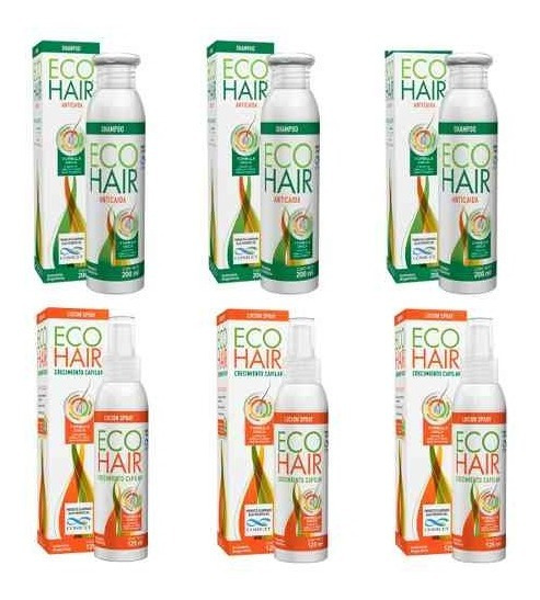 Eco Hair Tratamiento 3 Meses Anti Caida Crecimiento Cabello