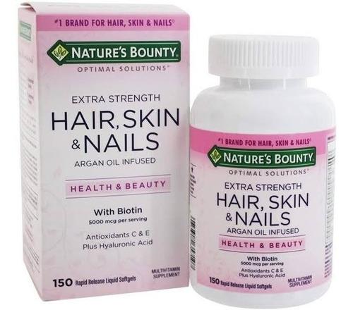 Hair, Skin & Nails 150cápsulas Nature's Bount Importado