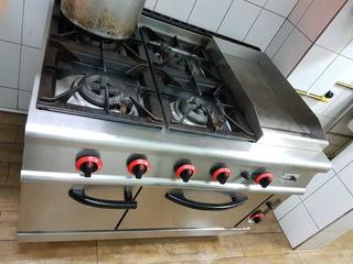 Cocina De 4 Discos, Con Plancha Y Horno