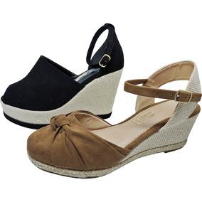 04e3d1c2dd Sandalia Salto Quadrado Em Camurça - Sapatos no Mercado Livre Brasil