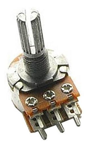 Potenciômetro Wh148 Duplo B20k Base Pequena Eixo De 20 Mm - Ac0267