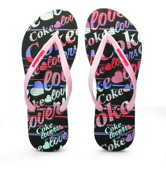 Chinelo Feminino Lovers Coke Shoes R$ 29,90 Frete