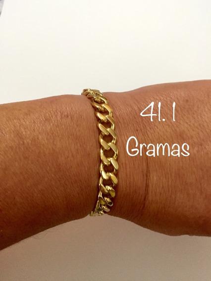 Pulseira Masculina Elo Grumet 41.1 Gramas De Ouro 18k/750