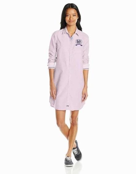 Vestido Camisero Camisa Mujer Polo Talle Medium