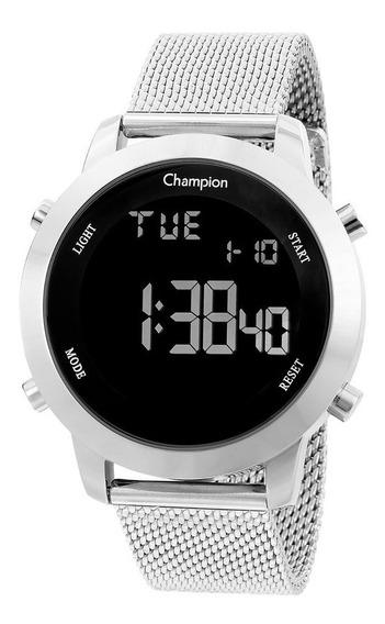 Relógio Champion Feminino Digital Prata Ch40071t Original