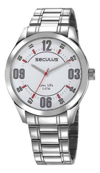 Relógio Seculus Masculino Todo Em Aço 23657g0svna2