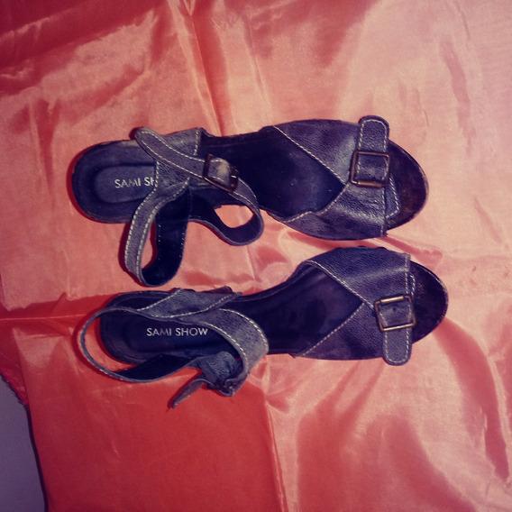 Sandalias N° 38. Taco 12.5 Cm