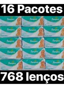 Lenços Umedecidos Pampers Fresh Clean 768 Lenços 16pcts 48un