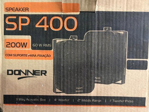 Caixas De Som Acústica Sp400 60w Rms - Preta