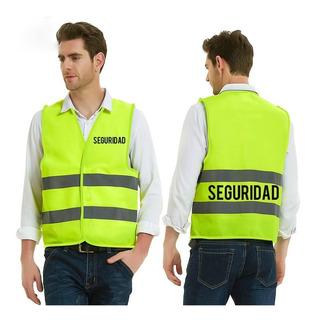 Chaleco Reflectante Logo Seguridad Amarillo / Ekipofertas