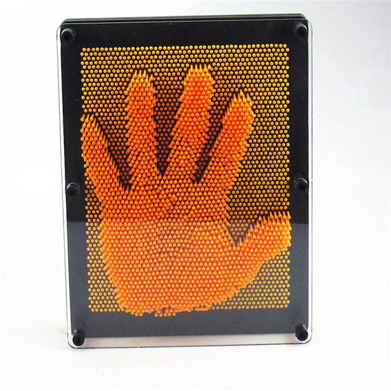 Captador Imagens Pinart 3d Pin Sculpture 16x12x4,5 Laranja