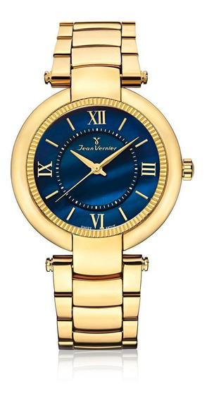 Relógio Pulso Jean Vernier Masculino Aço Jv01142