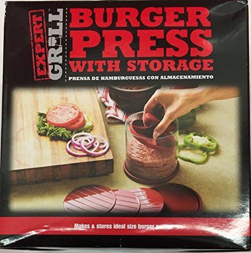 Expert Grill Hamburger Burger Press Con Almacenamiento