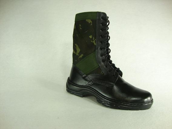 Coturno Militar Masculino Selva - Cano Camuflado Com Zíper