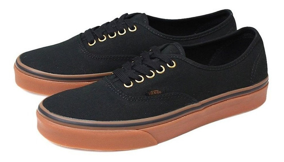 Tenis Vans Authentic Black Rubber