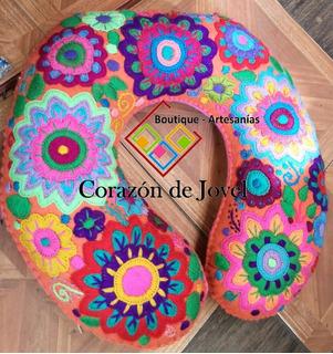 Almohada Para Viaje/cogin/cuellero/ Bordados A Mano Chiapas