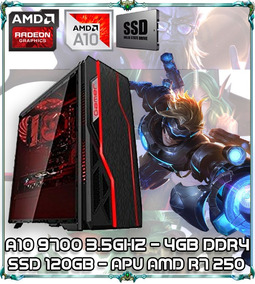 Cpu Pc Gamer A10 9700 Quad Core 3.5ghz 4gb Apu Sdd 120gb 09b