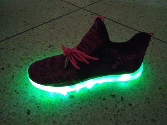 Zapato Deportivo Dama Luces Led Recargable Usb 39 1/2