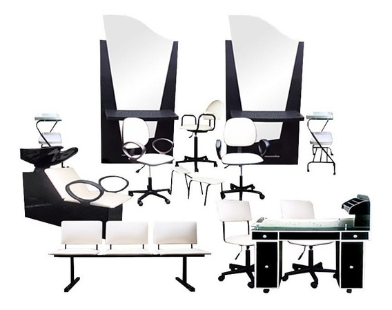 Equipo Para Estética Salón De Belleza 12 Muebles Jackson Qls