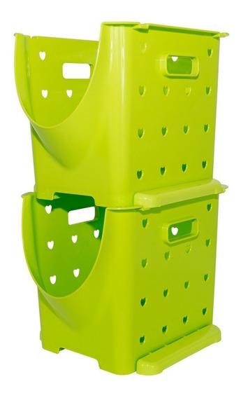 Canasto Apilable Organizador De Frutas Y Verduras (4 Unidad)