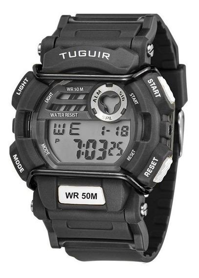 Relogio Masculino Digital Tg6002 Preto Tuguir