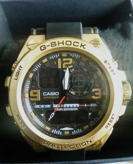 Relógio Masculino Gshock Dourado Prova Dagua Frete Grátis