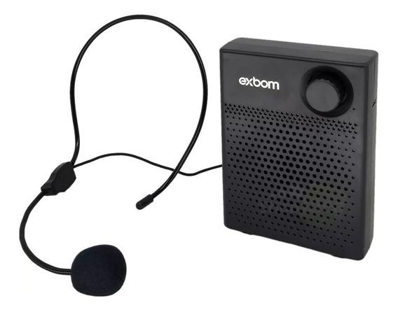 Amplificador De Voz Megafone Microfone Com Bluetooth 7w