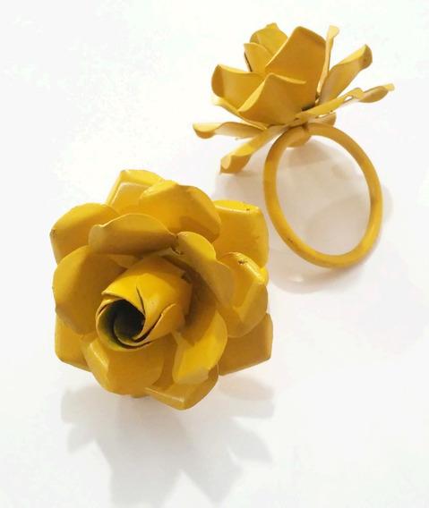 20 Porta Guardanapo Flor Rustico Lembrança Casamento Festa