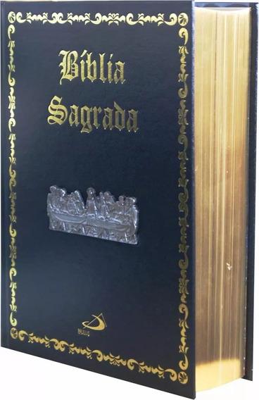 Biblia Sagrada Católica Santa Ceia Grande Capa Dura