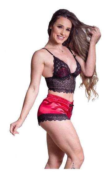 Shorts Doll Com Cropped Super Confortavel