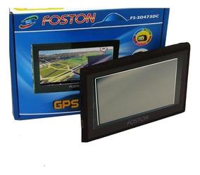 Gps Foston Fs-3d473dc 4.3 Polegadas Com Câmera De Ré