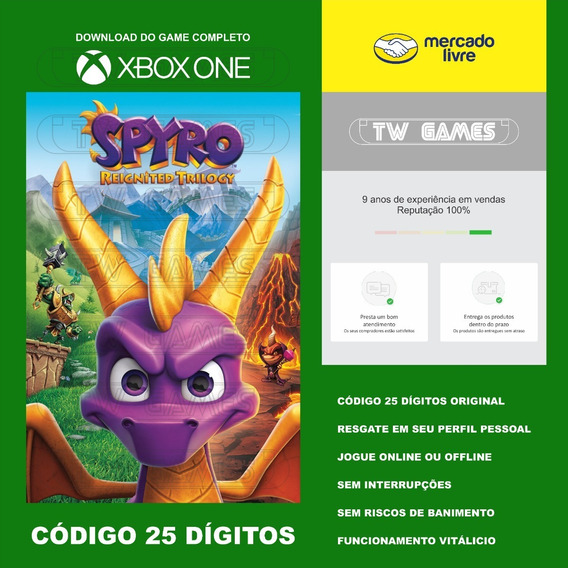 Spyro Reignited Trilogy Codigo 25 Digitos Xbox One Fat S X