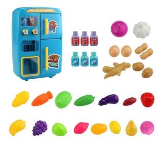 31pcs In 1 Cocina Jugar Juguete Mini Vending Refrigeradores