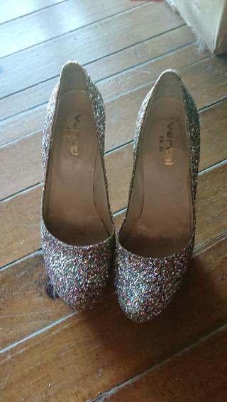 Zapatos De Fiesta Glitter De Colores