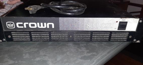 Amplificador De Potência Crown 800 Csl Frete Grátis