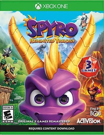 Spyro Reignited Trilogy Xbox One Mídia Física Novo E Lacrado