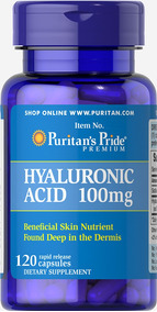 Ácido Hialurónico 100 Mg,x 120 Cápsulas, Puritan