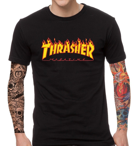 Remera Thrasher Unisex No Supreme No Gucci Rebel Label