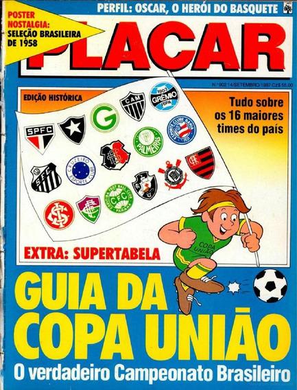 Revista Digitalizada Placar Guia Brasileiro 1987 + 2 Álbuns