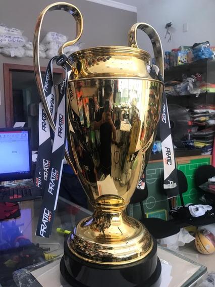 Kit Trofeu Champions League Dourado/ Prateado Em Metal