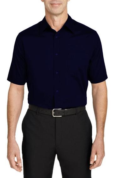 Camisa Social 100% Microfibra Manga Curta Várias Cores