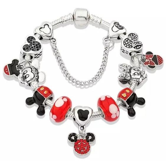 Pulseira Estilo Pandora Vivara Mickey E Minnie 925