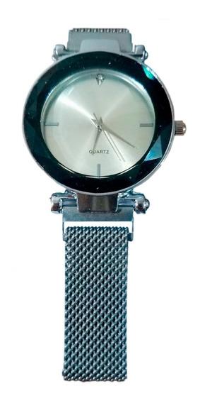 Relógio Feminino Pulseira Magnética Cinza Pronta Entrega Top