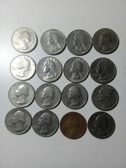Lote Monedas Cuartos De Dolar