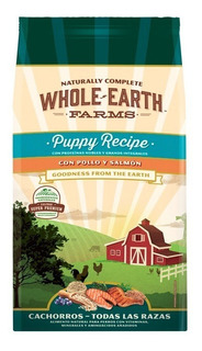 Alimento Natural Whole Earth Farms Pollo-salmon Puppy 7.5 Kg