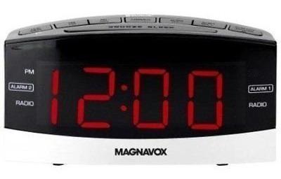 Rádio Relógio Despertador Magnavox 2 Alarmes Am/fm Original