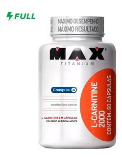 L-carnitine 2000mg 60 Cápsulas Max Titanium Emagrecedor